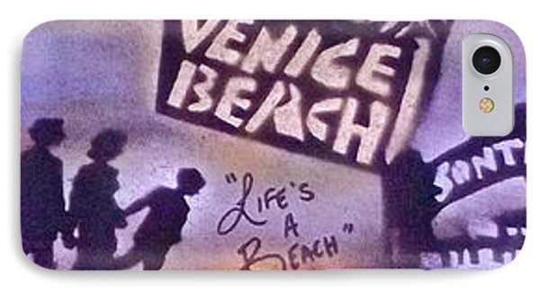 Venice Beach To Santa Monica Pier Phone Case by Tony B Conscious