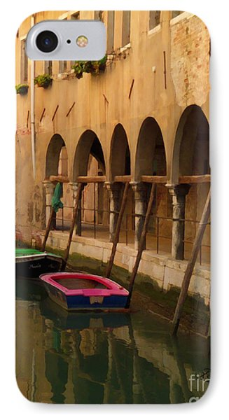 Venice Boats On Canal IPhone Case