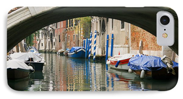 IPhone Case featuring the photograph Venice Canal Boat by Silvia Bruno
