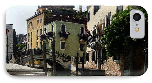 Venice Canal Summer In Italy IPhone Case by Irina Sztukowski