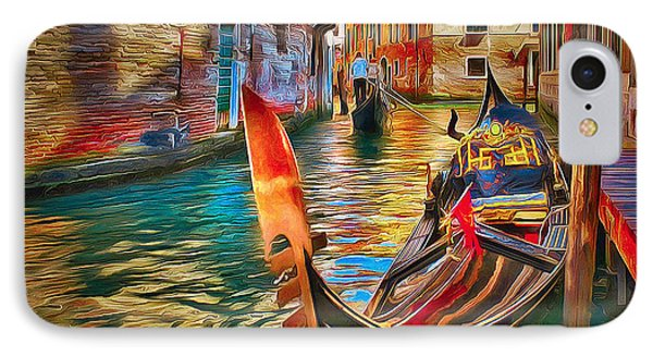 Venice Canals Beauty 4 IPhone Case by Yury Malkov
