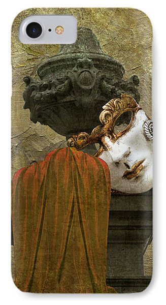 Venice Carnival Masque And Cloak IPhone Case by Suzanne Powers