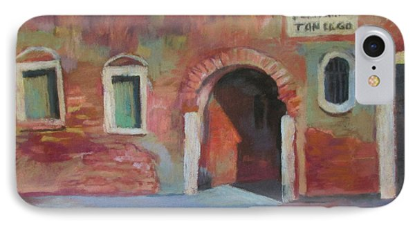 IPhone Case featuring the painting Venice Doorway by Linda Novick