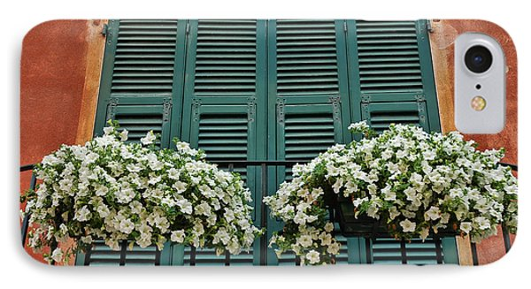 IPhone Case featuring the photograph Venice Flower Balcony 2 by Allen Beatty