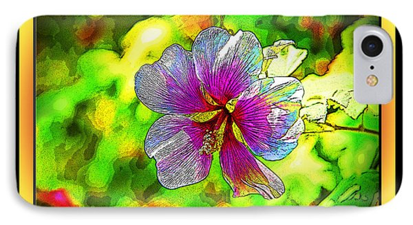 Venice Flower - Framed IPhone Case by Chuck Staley