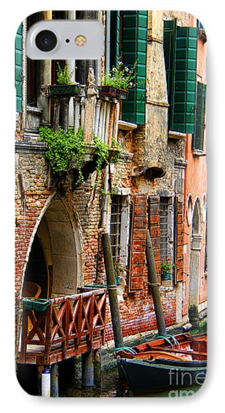 Venice Getaway Phone Case by Mariola Bitner