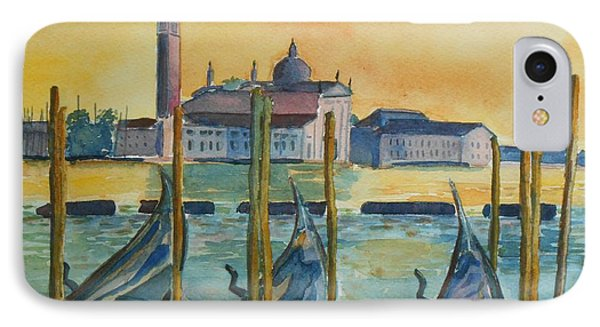 Venice Gondolas IPhone Case by Geeta Biswas