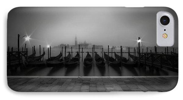 Venice Gondolas On A Foggy Morning IPhone Case