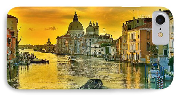 Golden Venice 3 Hdr - Italy IPhone Case by Maciek Froncisz
