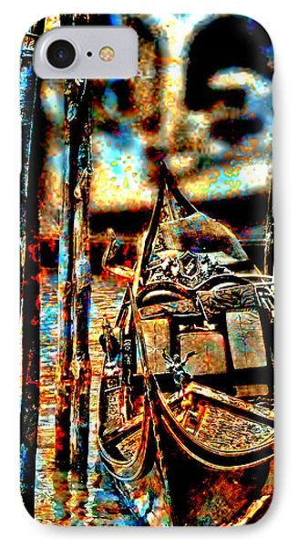 Venice In Grunge 3 IPhone Case by Greg Sharpe