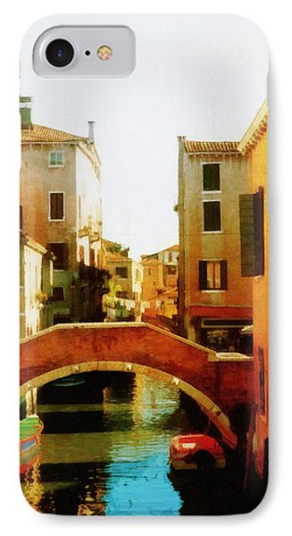 Venice Italy Canal With Boats And Laundry IPhone Case