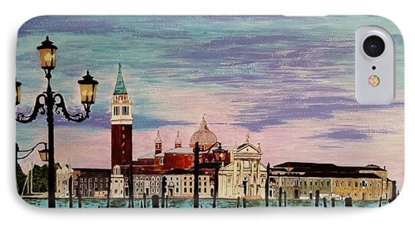 IPhone Case featuring the painting Venice  Italy By Jasna Gopic by Jasna Gopic