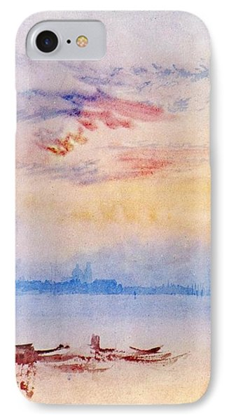 Venice Looking East From The Guidecca Sunrise 1819 IPhone Case by J M W Turner