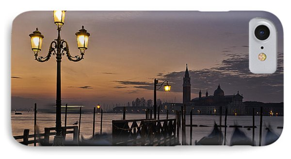 Venice Night Lights IPhone Case by Marion Galt