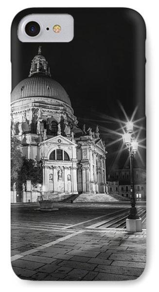 Venice Santa Maria Della Salute Black And White IPhone Case by Melanie Viola