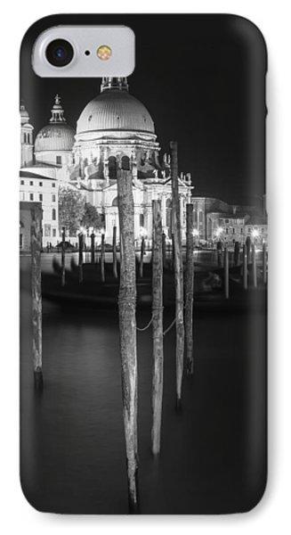 Venice Santa Maria Della Salute In Black And White IPhone Case by Melanie Viola