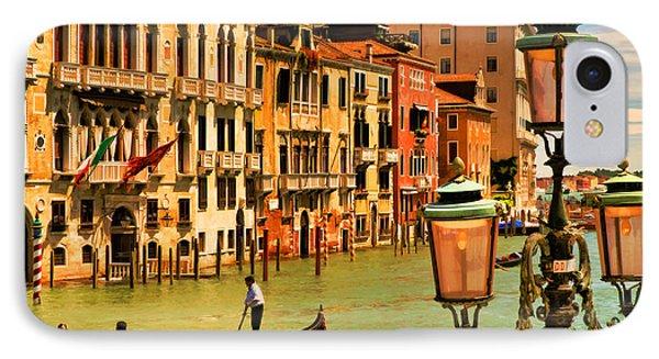 Venice Street Lamp IPhone Case by Mick Burkey