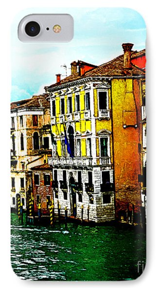 IPhone Case featuring the digital art Venice - Venezia by Ze  Di