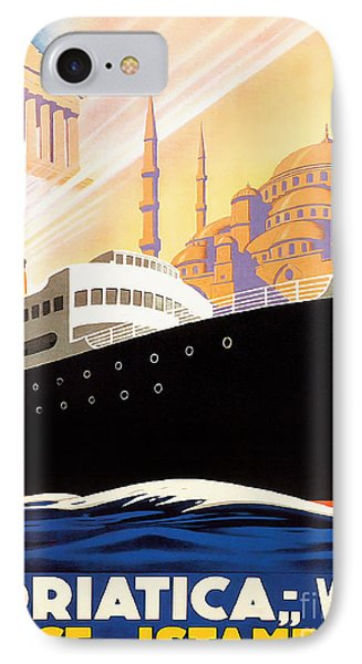 Venise Vintage Travel Poster IPhone Case by Jon Neidert