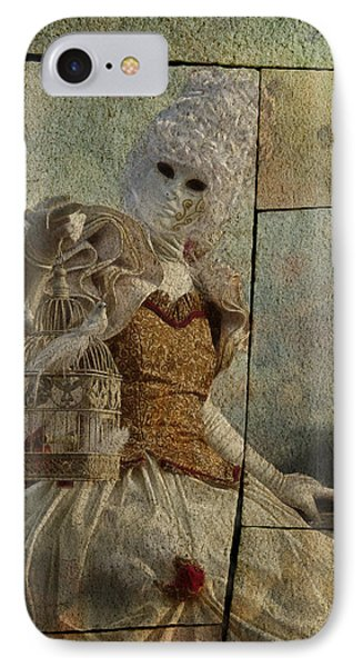 IPhone Case featuring the photograph Venitian Carnival-bird In A Cage by Barbara Orenya