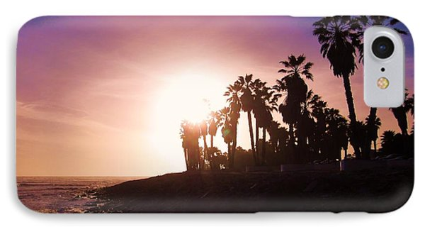 IPhone Case featuring the photograph Ventura Beach Sunset by Mary Ellen Frazee