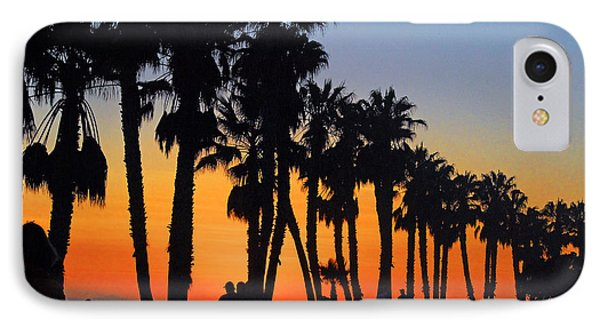 IPhone Case featuring the photograph Ventura Boardwalk Silhouettes by Lynn Bauer