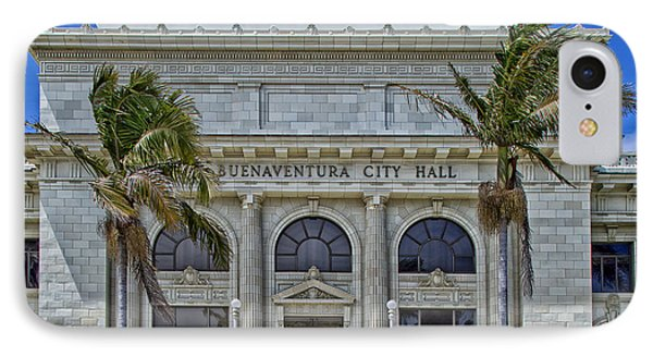 Ventura City Hall IPhone Case by Mountain Dreams