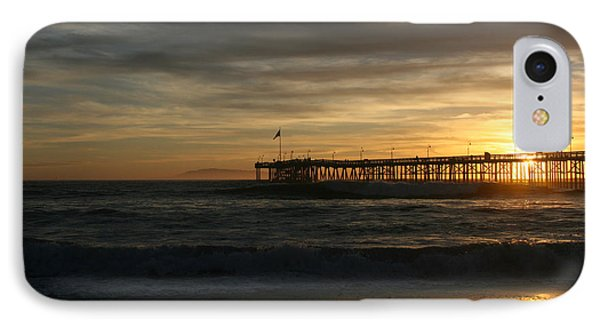 IPhone Case featuring the photograph Ventura Pier 01-10-2010 Sunset  by Ian Donley