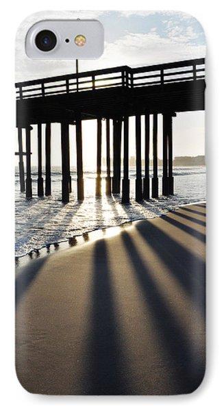 IPhone Case featuring the photograph Ventura Pier Shadows by Kyle Hanson