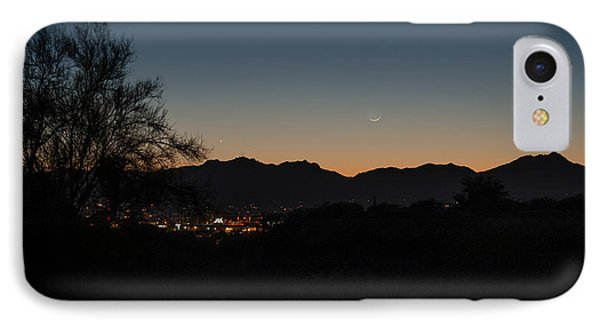 IPhone Case featuring the photograph Venus And A Young Moon Over Tucson by Dan McManus