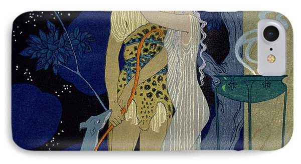 Venus And Adonis  IPhone Case by Georges Barbier