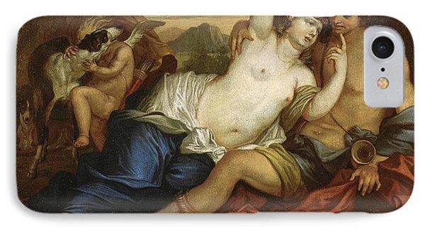 Venus And Adonis IPhone Case by Jan Boeckhorst