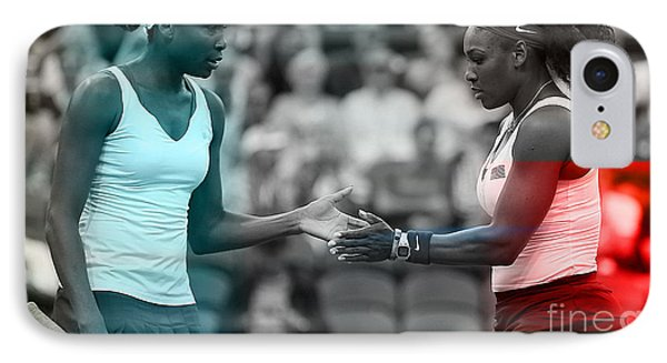 Venus Williams And Serena Williams IPhone 7 Case by Marvin Blaine