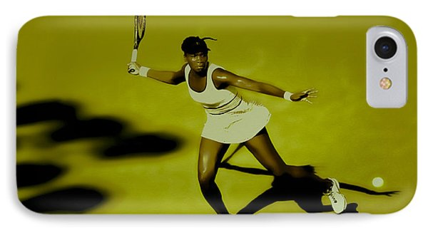 Venus Williams In Action IPhone Case by Brian Reaves