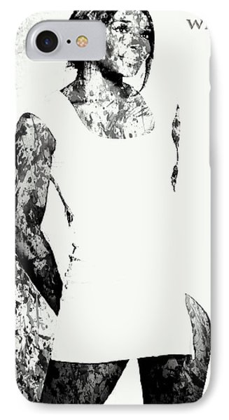 Venus Williams Paint Splatter 2c IPhone Case by Brian Reaves