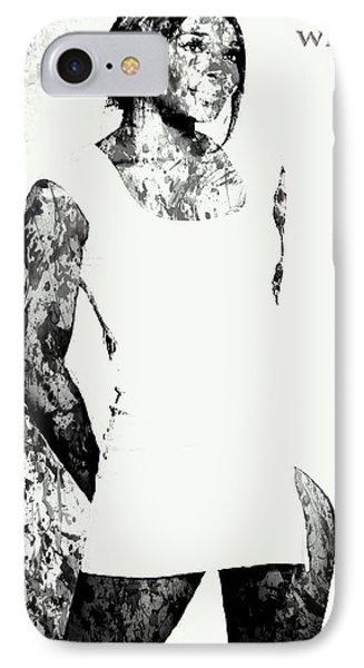 Venus Williams Paint Splatter 2c IPhone 7 Case by Brian Reaves
