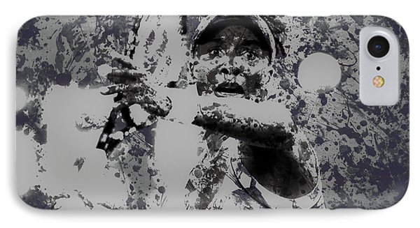 Venus Williams Paint Splatter 2e IPhone Case by Brian Reaves