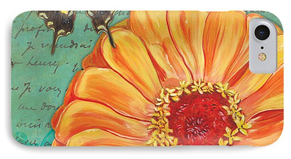 Verdigris Floral 1 IPhone Case by Debbie DeWitt