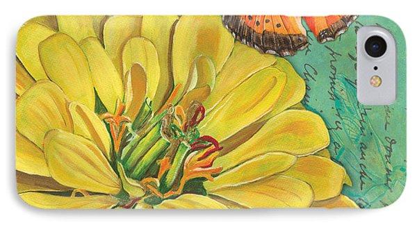 Verdigris Floral 2 IPhone Case by Debbie DeWitt