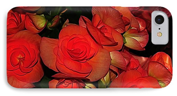 Vermillion Fire IPhone Case by Kaye Menner