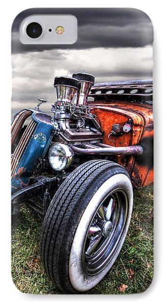 Vermin's Diner Rat Rod Front IPhone Case by Gill Billington