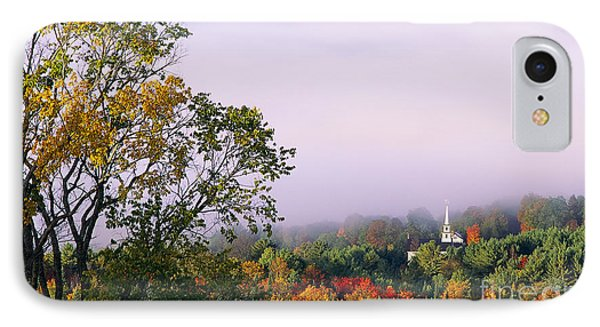 Vermont Autumn Morning IPhone Case by Alan L Graham