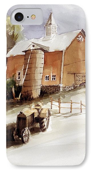 Vermont Barn With Wooden Silo IPhone Case