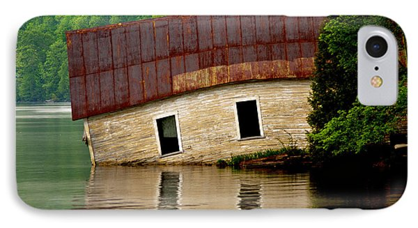 IPhone Case featuring the photograph Vermont Boathouse by John Haldane