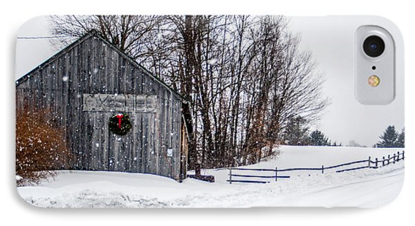 IPhone Case featuring the photograph Vermont Christmas Lane by Dawn Romine