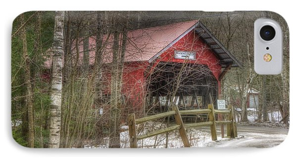 Vermont Covered Bridge - Stowe Vermont IPhone Case by Joann Vitali