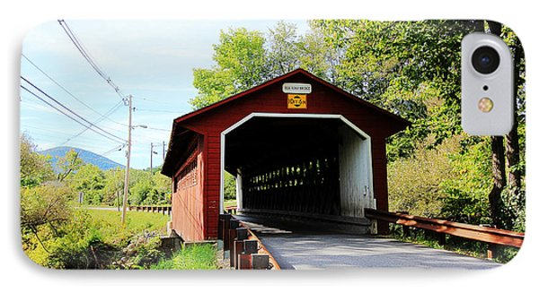 IPhone Case featuring the photograph Vermont Covered Bridge by Trina  Ansel