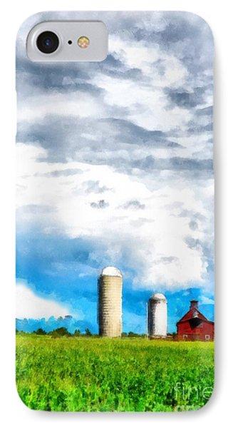 Vermont Farm Scape IPhone Case by Edward Fielding