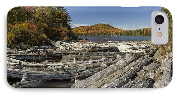 Vermont Kettle Pond Panorama Autumn Forest IPhone Case by Andy Gimino