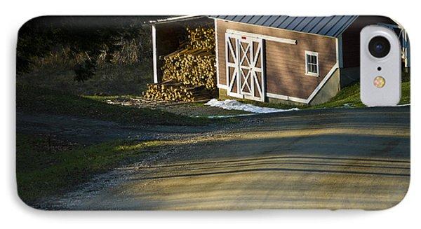 Vermont Maple Sugar Shack Sunset IPhone Case by Edward Fielding